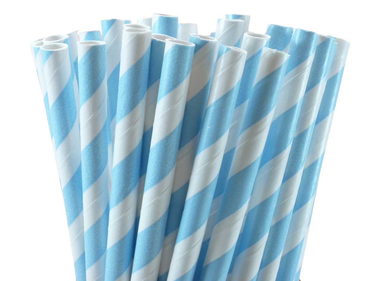 Baby-Blue-Striped-Paper-Straws
